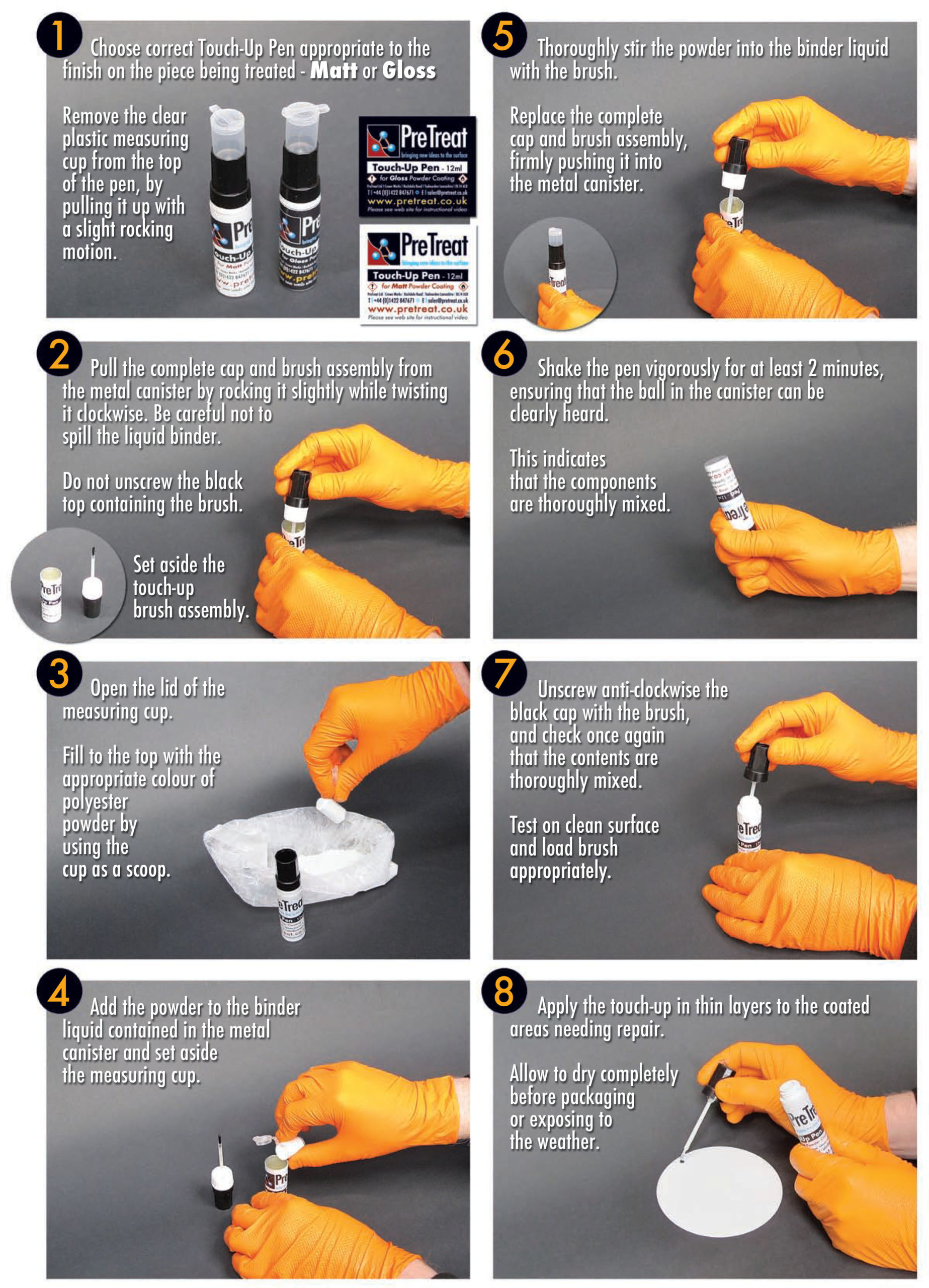 Powder Coating Touch Up Pen Guide